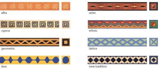 Various borders are available from Forbo
